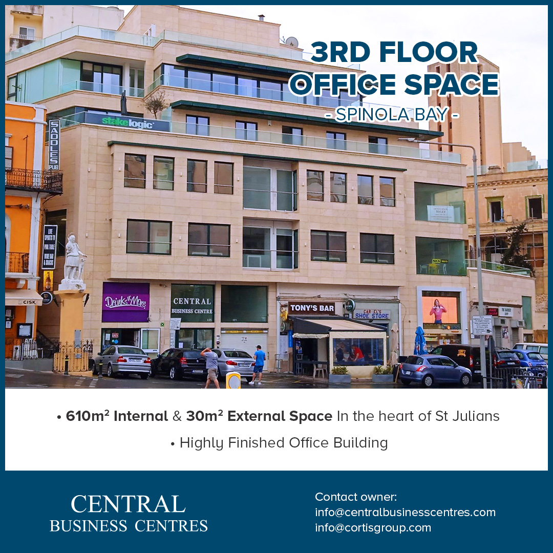 Exclusive Level 3 Office Space in Spinola Bay, St Julians